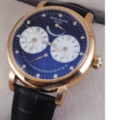 Patek Philippe Power reserve Dual Time BLACK Swiss ETA Automatic watch