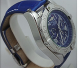 Breitling Chornometre Blue Leather Strap Watch