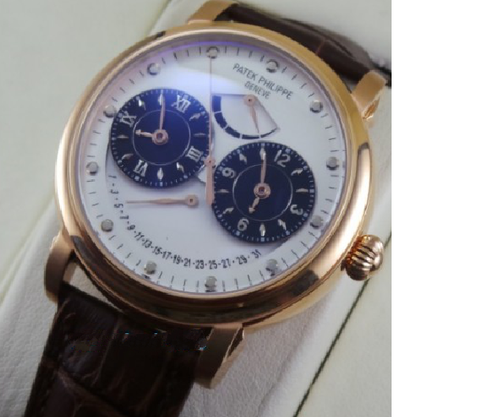 Patek Philippe Power reserve Dual Time Swiss ETA Automatic watch