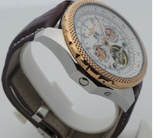 Breitling Bentley White Swiss Automatic Tourbillon Leather Strap Watch
