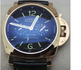 Luminor Panerai Equation Of Time GMT Swiss ETA 2250 Valjoux Movement Automatic Mens Watch