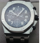 Audemars Piguet Royal Oak Offshore Steel Black Swiss ETA Valjoux 7750 Automatic Watch