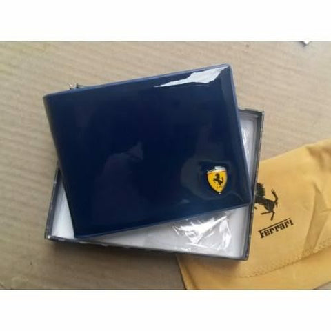 FERRARI BLUE LEATHER WALLET