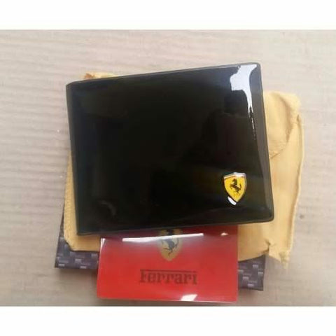 FERRARI BLACK LEATHER WALLET