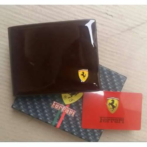 FERRARI BROWN LEATHER WALLET