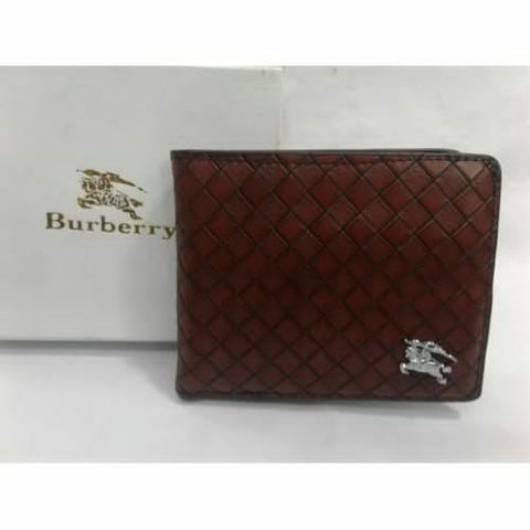 BURBERRY BROWN LEATHER WALLET