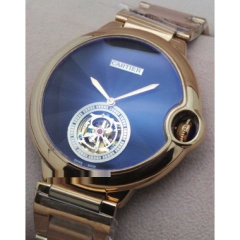 CARTIER BALLON BLEU DE FLYING TOURBILLON SWISS AUTOMATIC WATCH