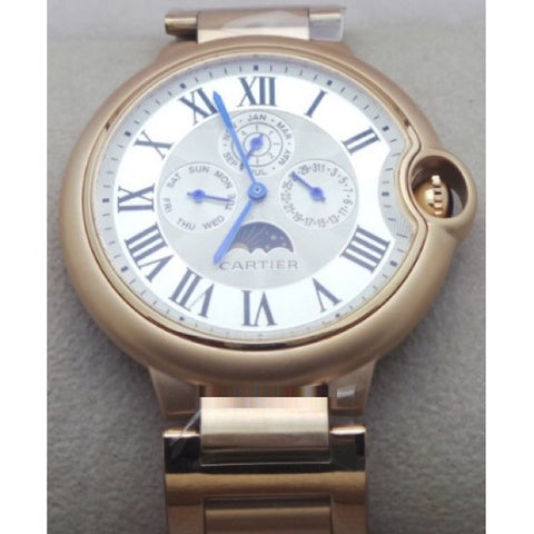 Cartier Ballon Bleu De Celender White Rose Gold Watch