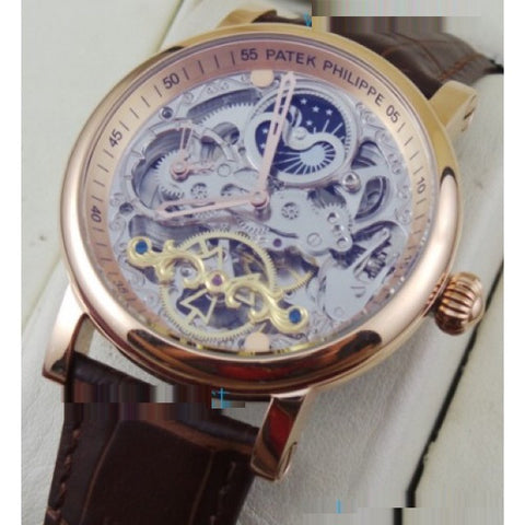 Patek Philippe Skeleton Two Time Zone SM Phase Watch