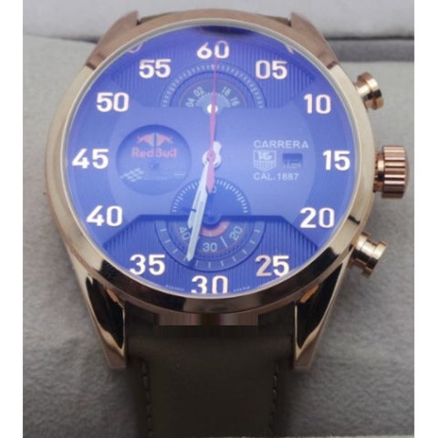 Tag Heuer Carrera Calibre 1887 Red Bull Rose Gold Blue Watch