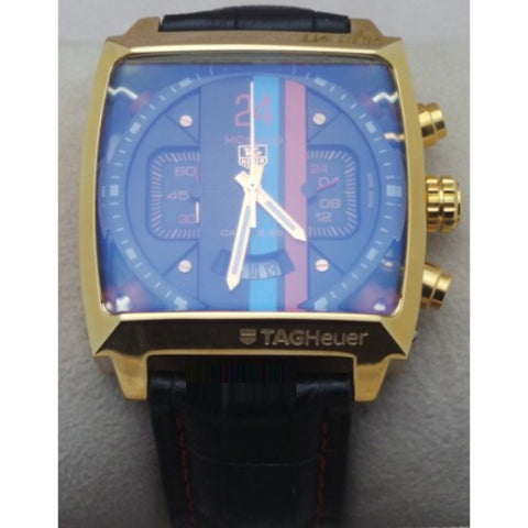 TAG HEUER MONACO 24 CALIBRE 36 CHRONOGRAPH GOLD LIMITED EDITION WATCH
