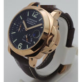 Luminor Panerai Power Reserve Automatic Rose Gold Leather StrapWatch