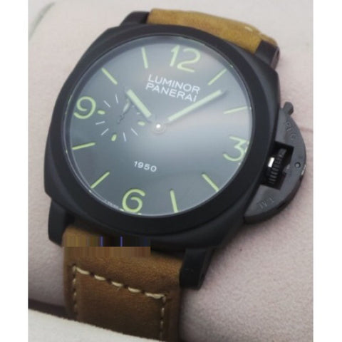 Luminor Panerai 1950 Brown Leather Strap Swiss Automatic Watch