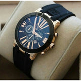 Ulysse Nardin Executive CHRONOGRAPH Black Rubber Strap Watch