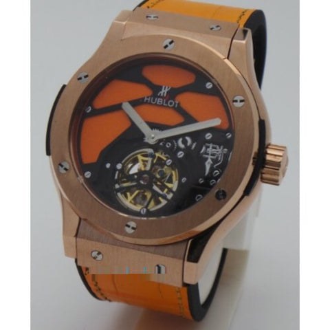 Hublot Vendome Skeleton Orange Swiss Automatic Watch