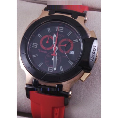 Tissot T-Race Red Rubber Strap Chronograph Sports Watch