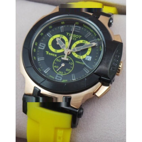 Tissot T-Race Yellow Rubber Strap Chronograph Sports Watch