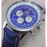 Breitling Navitimer Chrono Full Blue Leather Strap Watch