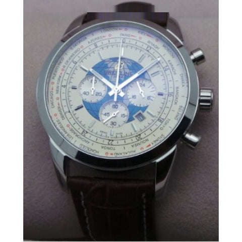 Breitling Transocean Chronograph White Watch