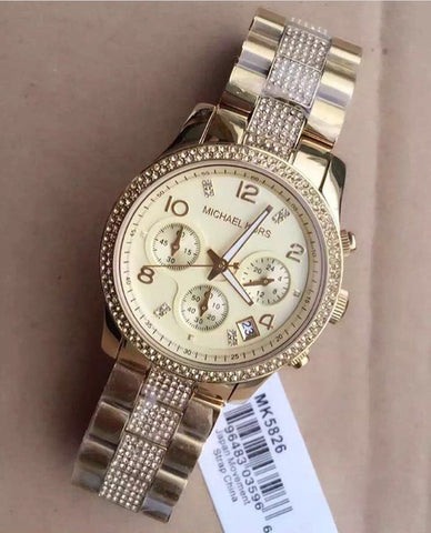 MK AAA Gold Tone Watch