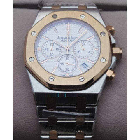 Audemars Piguet Chronometer Dual Tone White Watch