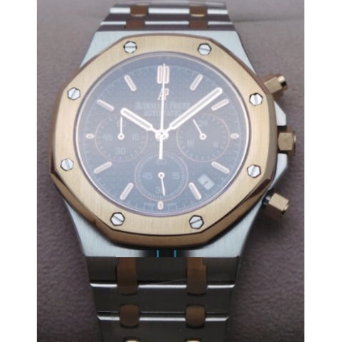Audemars Piguet Chronometer Rose Gold Black Watch