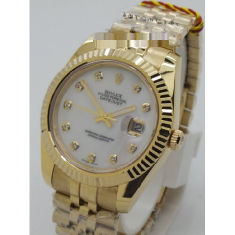 Rolex Datejust Mother Of Pearl Dial Swiss ETA 7750 Valjoux Movement Watch