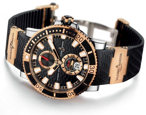 Ulysse Nardin Marine Diver Rose Gold Valjoux Automatic Movement Watch