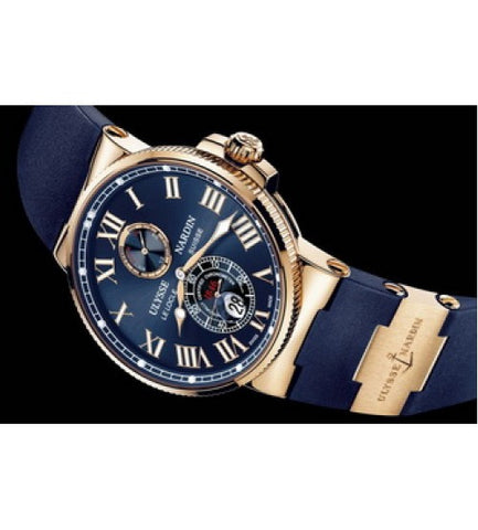 Ulysse Nardin MAXI MARINE CHRONOMETER Chronograph BLUE Automatic Mens Watch