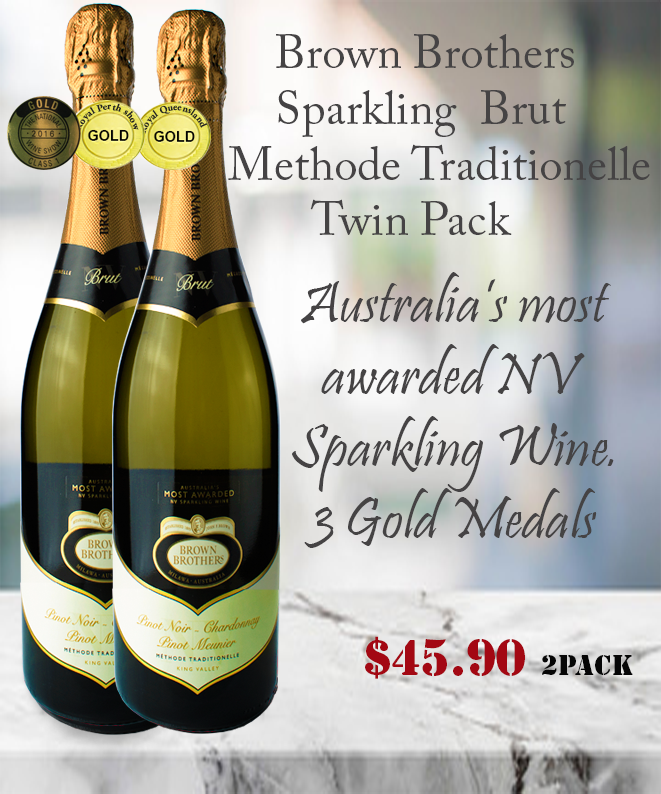 Sparkling Wine Brown Brothers Brut Winepronto Twin Pack