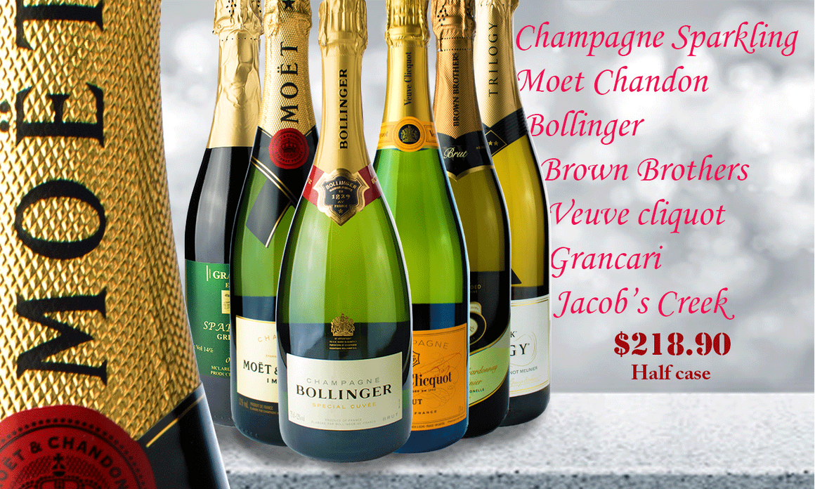 Champagne Mixed Hal;f Case Winepronto.com.au