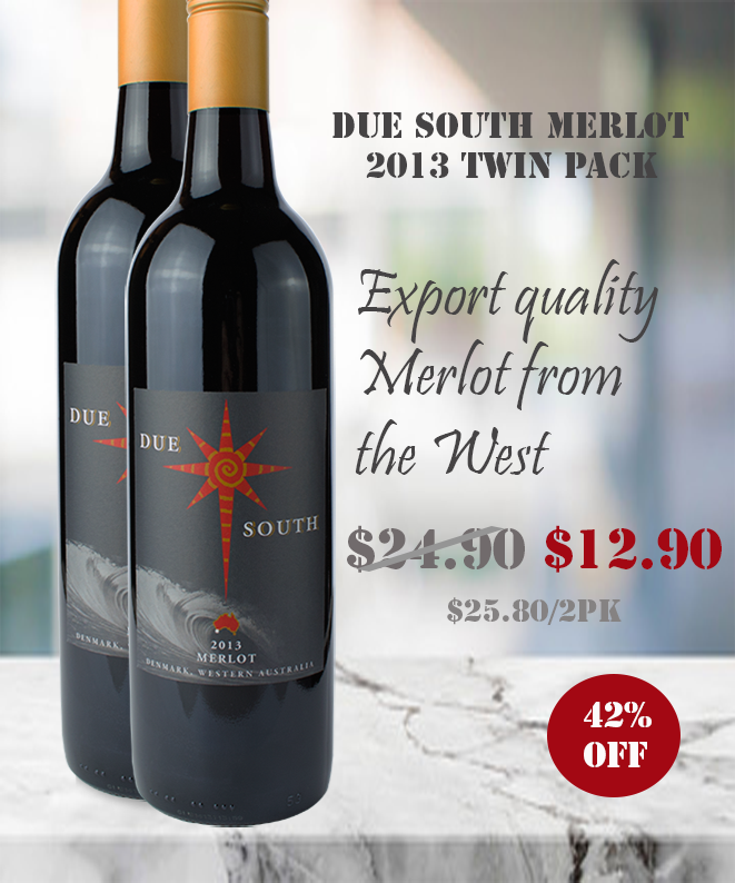 Due South Merlot 2013 Winepronto TWIN PACK