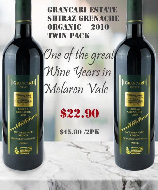 Shiraz Grenache 2010 Grancari TWIN PACK Deal