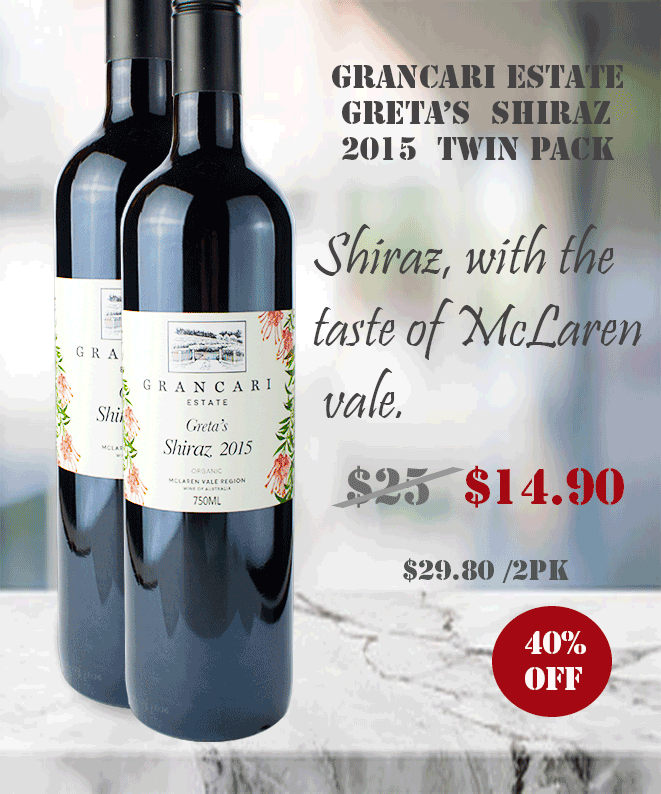 Shiraz Grencari 2015 Great Deal on TWIN PACK Winepronto