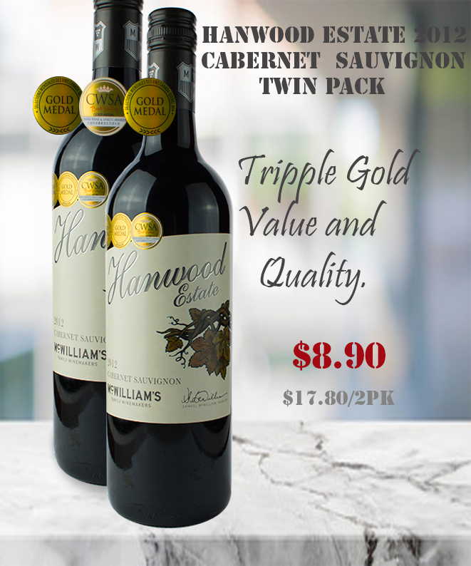 Cabernet Sauvignon Hanwood 2012 Red Wine Winepronto Twin Pack