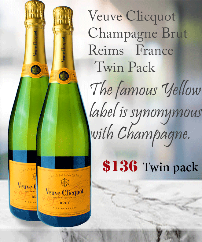 Champagne Veuve Cliquot French Winepronto Twinpack