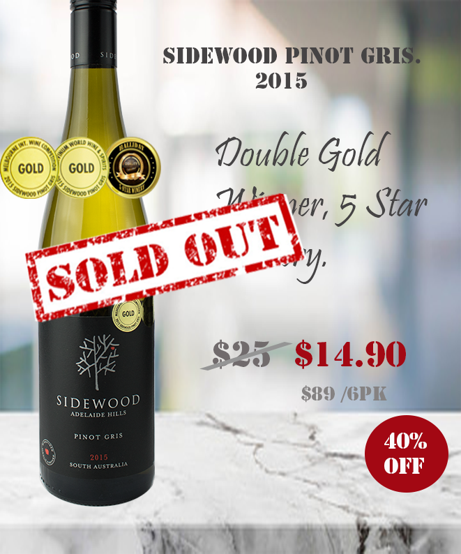 white Wine -Sidewood Pinot Gris 2015  winecentral.com.au