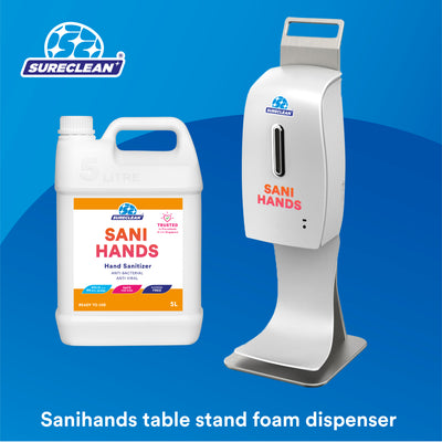 Sanihands Automatic Hand Sanitizer Dispenser (Table Stand) + Refill Bundle