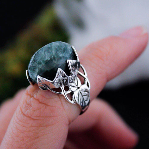 Sterling Silver Seraphinite Wild Vines Ring