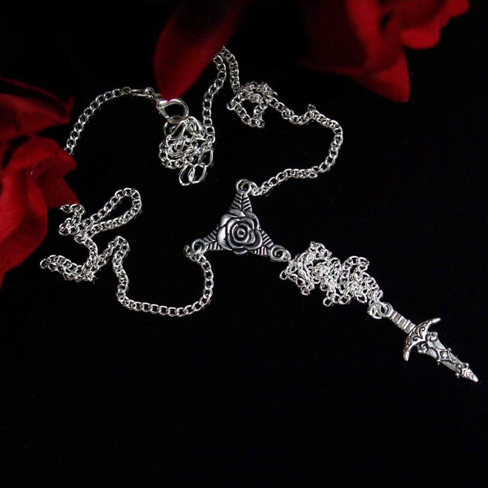 Little Dagger Lariat Necklace