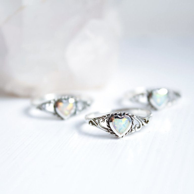 Sterling Silver Heart of the Ocean Ring