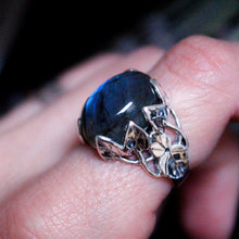Sterling Silver Labradorite Wild Vines Ring