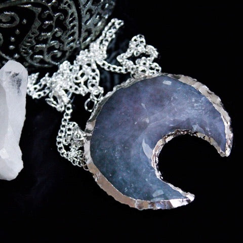 Silvered Moon Necklace