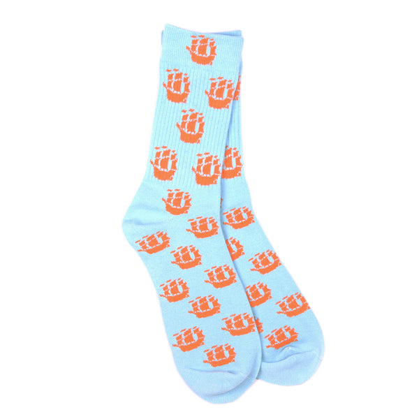 Light Blue Fleet Socks