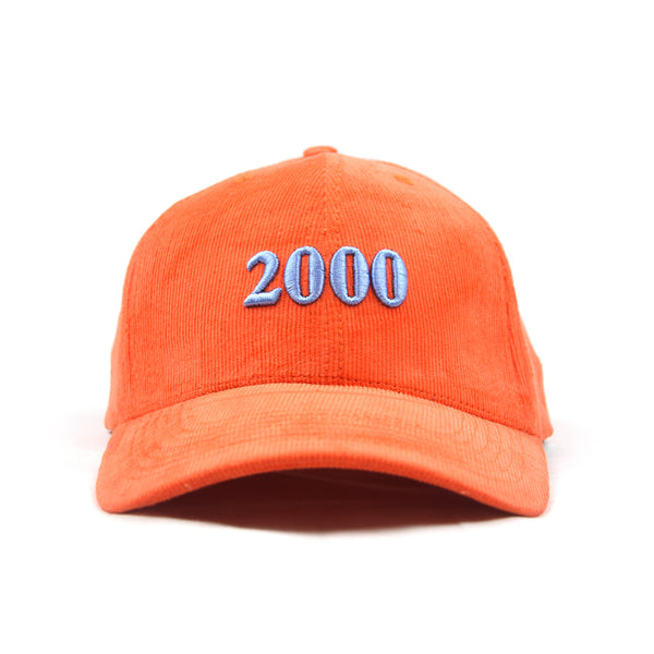 Orange Corduroy Cap
