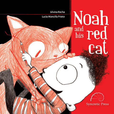 Noah and his red cat