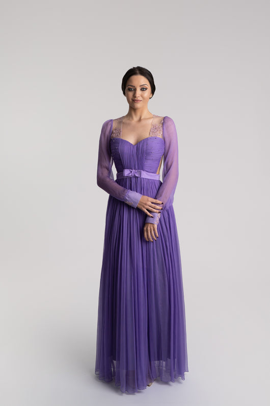 Lavender silk dress