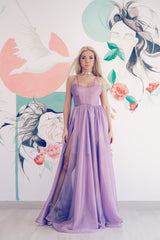 Karma shimmer lavender dress