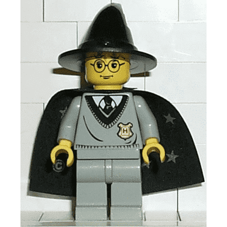 Lego Minifigure ark Tan Wizard Withch Hat  HP#3
