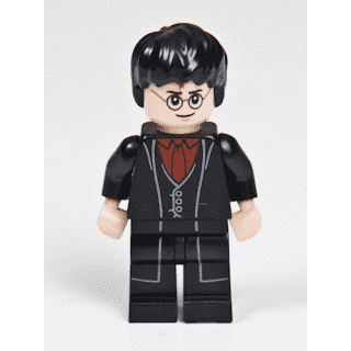 Harry Potter Dark Red Shirt and Tie LEGO MINI FIG Black Long Coat /& Vest